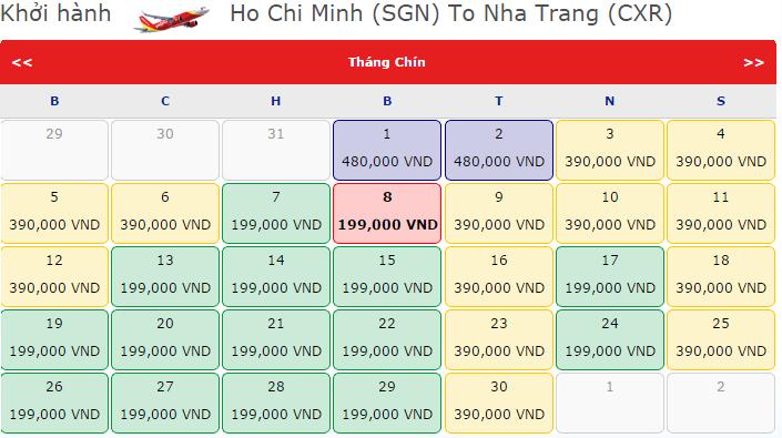Chặng bay TP.HCM – Nha Trang