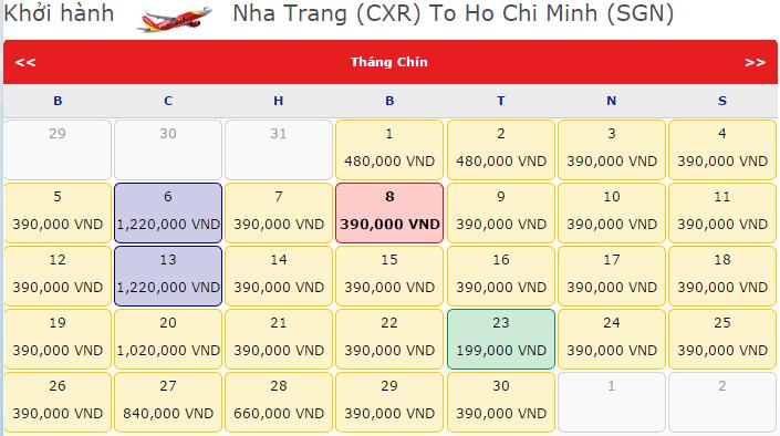 Vé máy bay đi Nha Trang giá rẻ nhất tại Vietnam Booking